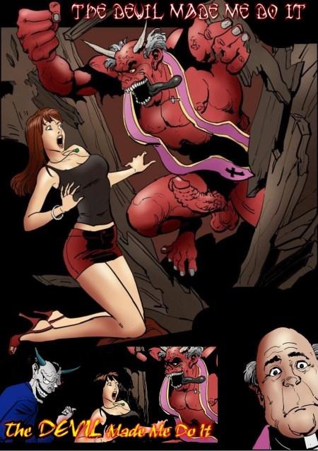 дьявол заставил меня сделать это порно комикс